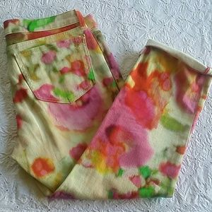 Kate Spade watercolor pants 30 crop